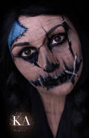 Scarecrow Halloween Makeup w/ Tutorial by KatieAlves