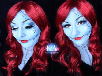 Sally Halloween Makeup w/ Tutorial by KatieAlves