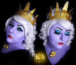Ursula Makeup (with tutorial) by KatieAlves