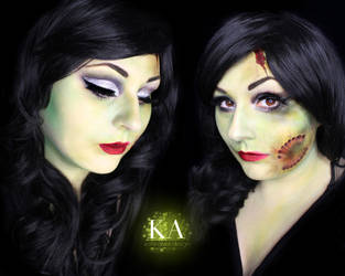 Glam Zombie w/ tutorial by KatieAlves