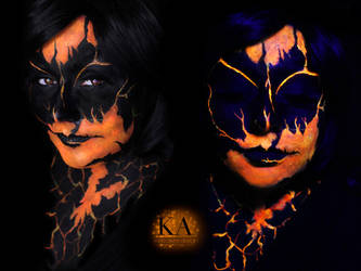 Black Light Lava Demon w/ tutorial by KatieAlves
