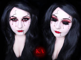 Bloody Mary Halloween Makeup w/ Tutorial by KatieAlves