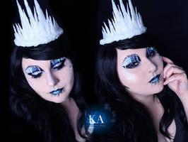 Ice Queen Halloween w/Tutorial by KatieAlves