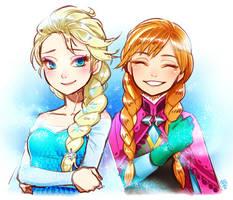 Frozen sisters by kohn-nz