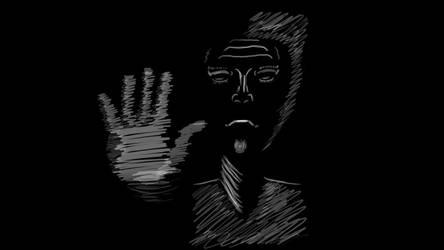 No (White on Black) by DragonlordYT