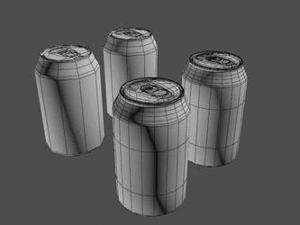 Soda Can Wireframe by OGCHUCK