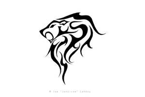 Tribal Leo Tattoo by JONZICOW