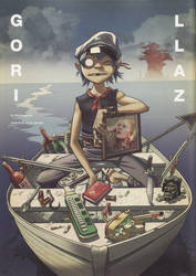 2D in a boat on plastic beach by Moin2D