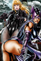 Huntress and Black Canary by TVC-Designs