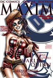 Harley Quinn Maxim Cover by TVC-Designs