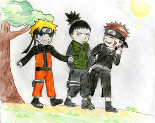 Naruto Kiba  Shikamaru by onigiri-cchaaan
