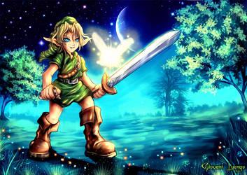 Zelda-Link Ocarina of the Time by FrancisLugfran