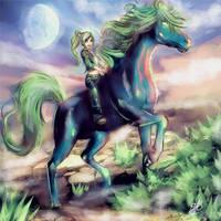Green Horse - The Green Sun by FrancisLugfran