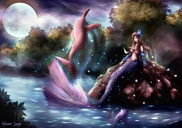 Deva - Iara and Pink Dolphin by FrancisLugfran