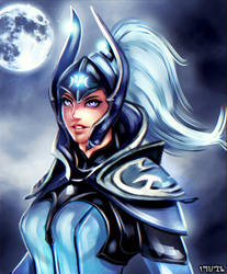 Luna Moonfang-The Moon Rider-DOTA2 by FrancisLugfran