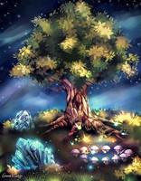 Sacred Tree and Elemental Gates by FrancisLugfran