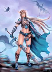 Edana - The Dragon Slayer by FrancisLugfran