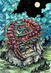 Oomukade - Giant Centipede - Yokai by FrancisLugfran
