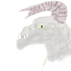 Deathclaw's head by NightyMarey