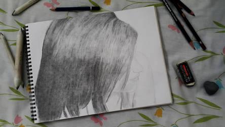 Hair Study by AleenaJ