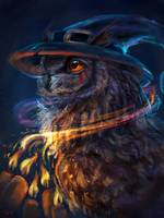 magic owl by AlaxendrA