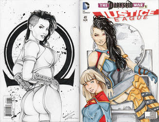 Grail! Darkseid's Daughter Sketch Cover Commission by BoredToLife