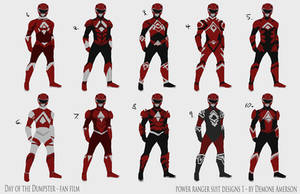 Power Ranger Suit concepts by BoredToLife
