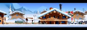 Harold Arctic village dev BG 02 by cyrilcorallo