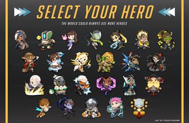 Overwatch: Select Your Hero by PokeyPokums