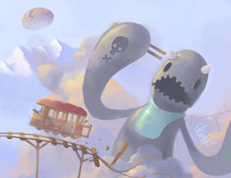Monster in the clouds by westykid