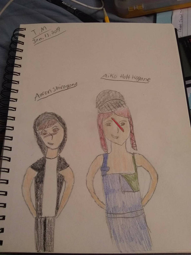 Aaron Shirogone and Aiko Holt Kogane by AnnaStrifeKazuhiro12