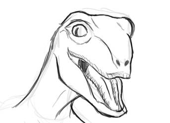 Happy raptor sketch by CiociaMrok