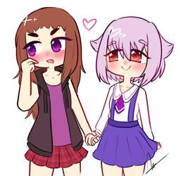 Girlfriends by Ama-Foxy