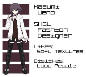 [DR OC] Kazumi Ueno SHSL Fashion Designer by Ama-Foxy