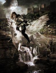Perseus and Pegasus by darkclub