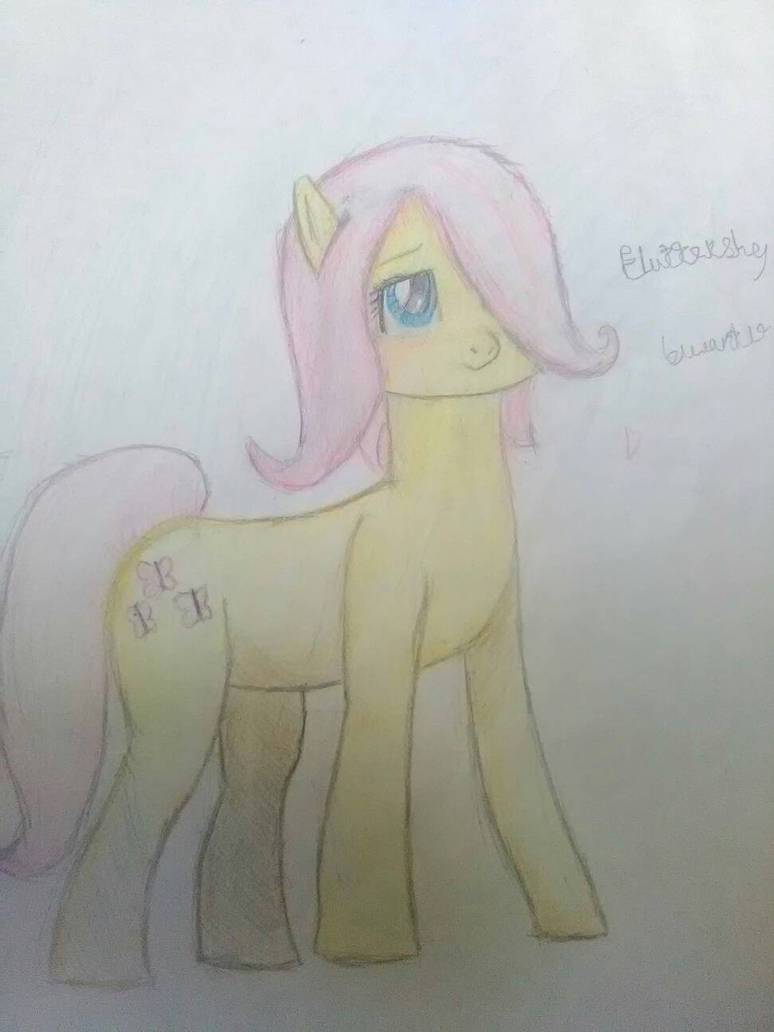 Just a doodle Fluttershy by Blueart14