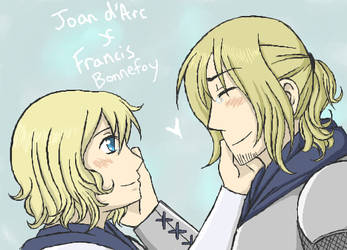 Joan d'Arc and Francis by Duelistabbeyryou