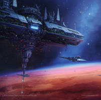 Star Wars Stellar Fortress by AnthonyDevine
