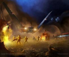 Star Wars- Kylo Rens Shuttle by AnthonyDevine