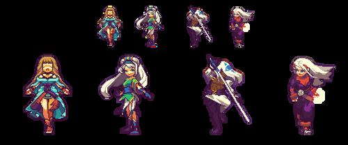 Video game character fan arts by RHLPixels