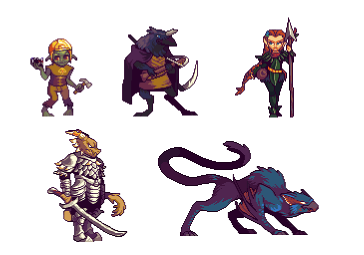 Characters by RHLPixels