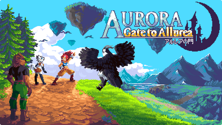 Aurora: Gate to Allurea title page by RHLPixels
