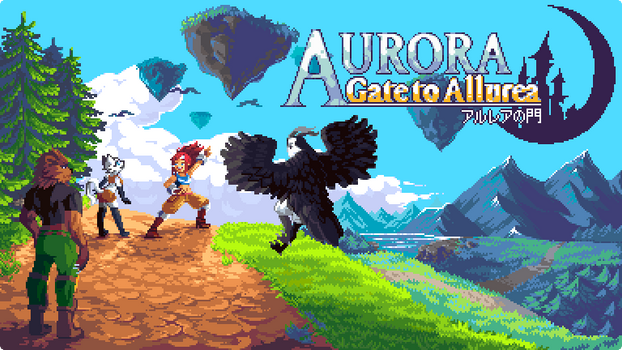 Aurora: Gate to Allurea title page by RHLPixels