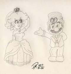 Wedding Mario and Peach by Drorito
