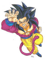 Goku Super Saiyan 4 by GokuIsTheBomb