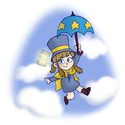 Drawtober Day 6: The kid with the hat! by WhicheverComa