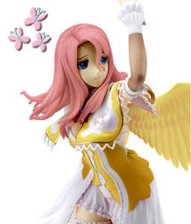 Fluttershy Anime Figure (Custom Garage kit mod) by Toku-Betsu