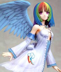 RainbowDash Anime Figure (Custom Garage Kit Mod) by Toku-Betsu