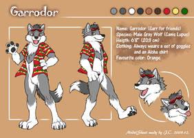 Garrodor model sheet by J-C