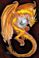 Golden dragon by J-C